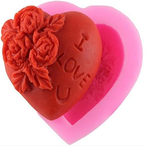 Bougie Savon G/âteau Chocolate Dessert Doitsa 1pcs Moule en Silicone Forme de Fleur Rose pour Fabrication de Gel/ée au Lait Rose 6.3 * 6.3 * 4.7cm