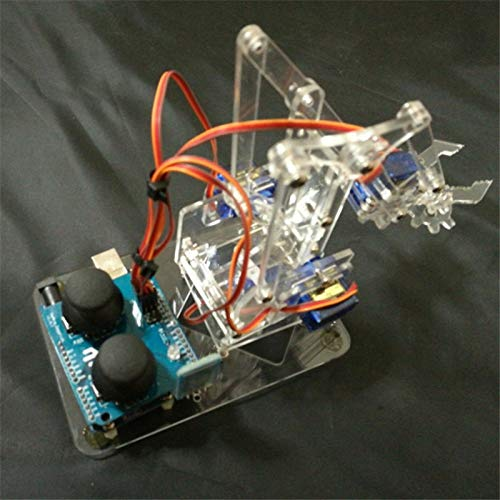 Xligo DIY MeArm Joystick Deluxe Kit mearm Acrylic Rocker Bluetooth Full Kit Robotic Arm - Servos Structural Parts, Fasteners