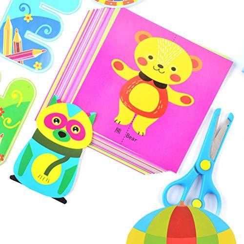 Crabitin ペーパーカット玩具 DIY 漫画 クラフトおもちゃ キッズ 早期開発素材 幼稚園 手作り 手芸用