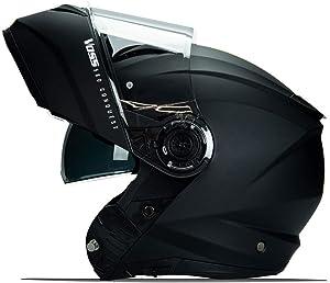 580 Conquest Modular helmet with Integrated Sun Lens communication ready Pinlock 70 anti-fog included. DOT/ECE. Matte Black - Medium