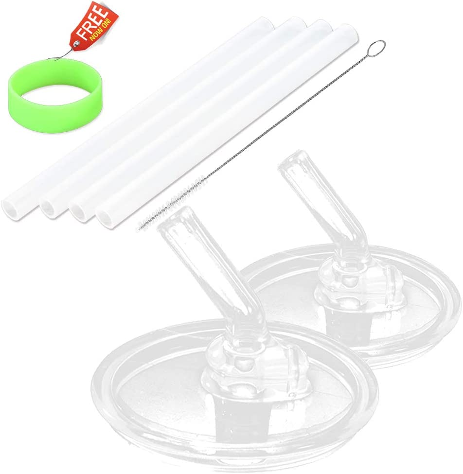 Replacement Straws for 10 Ounce Thermos Foogo Bottle by Greant, BPA-FREE Straws with 4 Straw, 2 PACK