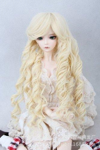 Bjd Wig ((18-18.5CM) BJD Doll Hair Wig 7-8