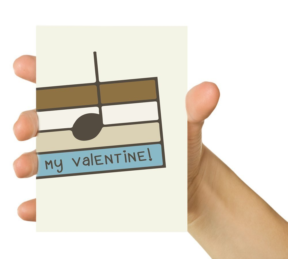 Handmade Card Funny Card Music Note 5x7 Greeting Card for music geeks Anniversary Card B my valentine Funny Valentine Card Valentines day Greetings Love Card