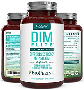 Extra Strength DIM 250mg - Plus Dong Quai, Vitamin E & BioPerine (2-4 month supply) - DIM Supplement for Menopause Relief, PCOS Treatment & Hormonal Acne - Hormone Balance Support for Women and Men