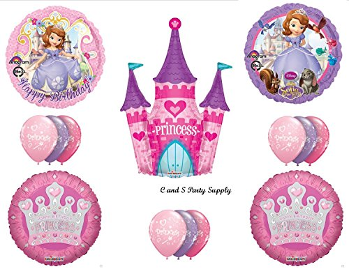 SOFIA First & CASTLE HAPPY BIRTHDAY PARTY Balloons Decorations Supplies -