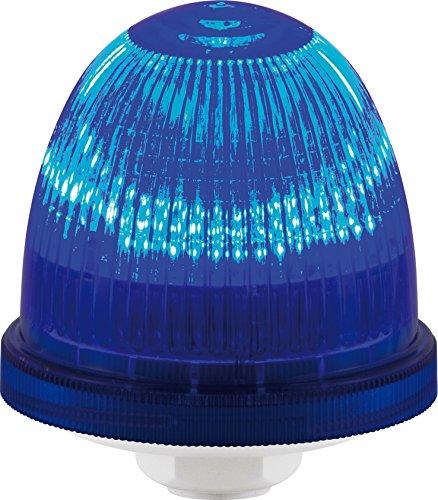 Federal Signal LP22LED-090-240B Streamline Low Profile LED Light, Multi-Pattern, Flush or Pipe Mount, 90-240VAC, Blue