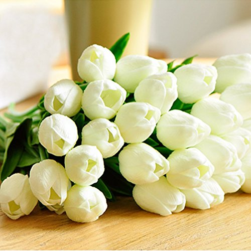 Bringsine premium artificial flowers real touch mini pu for Real plants for home decor