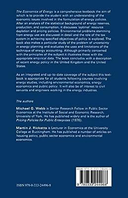 Economics of Energy: Michael Webb, Martin Ricketts: Amazon com