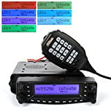 HYS Tc-mauv11 Vhf/uhf Dual Band Mobile Ham Radio Transceiver Air - Band Receiving Mobile Car Radio with USB Programming Cable