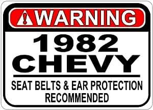 1982 82 CHEVY VAN Seat Belt Warning Aluminum Street Sign - 10 x 14 Inches