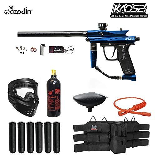 - MAddog Azodin KAOS 2 Titanium Paintball Gun Package - Blue/Black