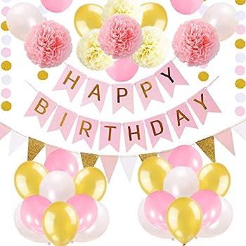 Amazon.com: Decoración de cumpleaños globos felices ...