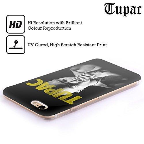 Officiel Tupac Shakur D'Or Art Clé Étui Coque en Gel molle pour Apple iPhone 6 / 6s