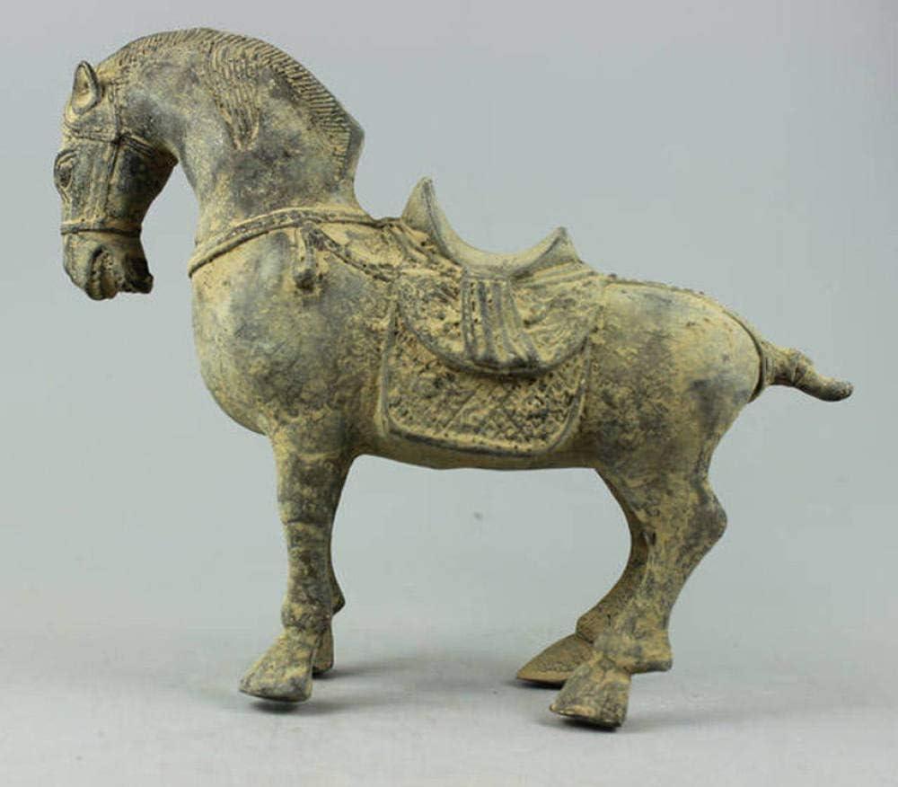 LIAOLEI10 Escultura Coleccionable Decorado Antiguo Trabajo Hecho a Mano Escultura de Bronce Caballo Estatua