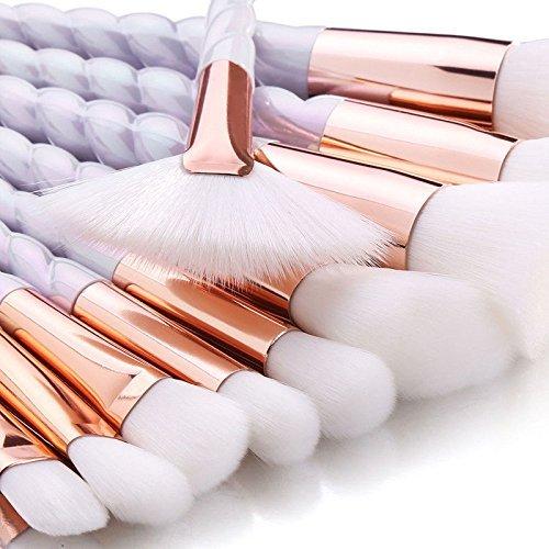 AccMart Makeup Brushes Set,Unicorn Design Brushes,Make Up Foundation Eyebrow Eyeliner Blush Cosmetic Concealer Brushes 10PCS with Free Brush Cleaner Egg