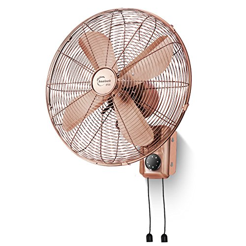 For The Fans Co. DD-Home & Kitchen/HeaDD-Household Fans Retro Wall Fan Household Remote Control Hanging Fan Mechanical Wall Fan Electric Fan Hanging Wall Fan Antique Fan 16 Inch Continental (Retro Fan Heater)