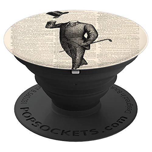 Invisible Man dictionary art - PopSockets Grip and Stand for Phones and Tablets -
