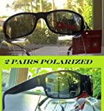 2 Pairs Foster Grant Black Polarized Sunglasses with Spring Hinges Review