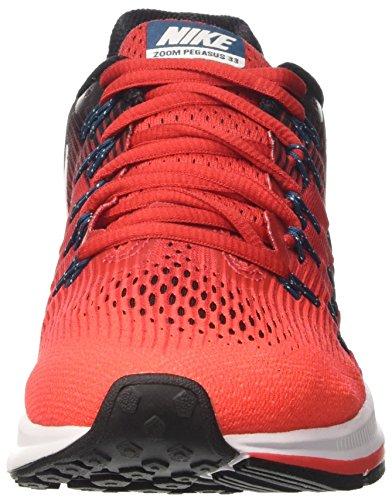 Nike Air Zoom Pegasus 33, Zapatos para Correr para Hombre Rojo (University Red/White/Bright Crimson)