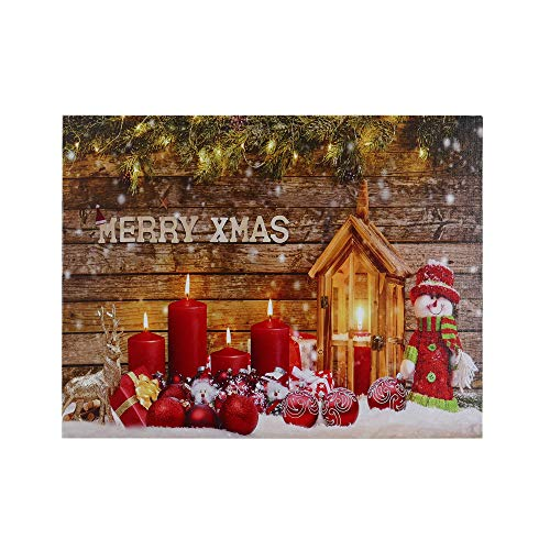Christmas Scene Light up Picture 12 by 16