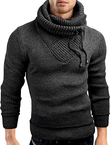b5826d9074b59 Grin Bear Slim Fit Shawl Collar Knit Sweatshirt Cardigan Hoodie, GEC555   Amazon.co.uk  Clothing