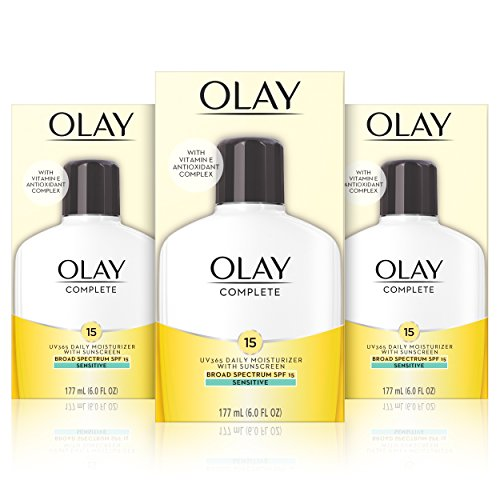 (Olay Complete Lotion Moisturizer with SPF 15 Sensitive, 6 Fl Oz, Pack of 3 )