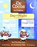 Dr. Cocoa Childrens Day + Night Combo Pack, Cough & Cold Syrup, 4 oz per bottle, Chocolate Flavor