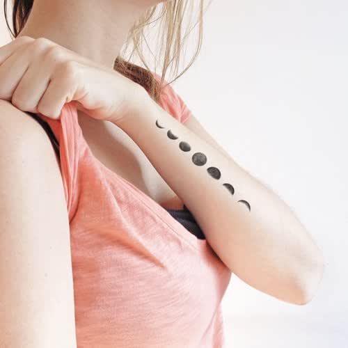 Fases de la luna - Tatuaje temporal (conjunto de 2): Amazon.es ...