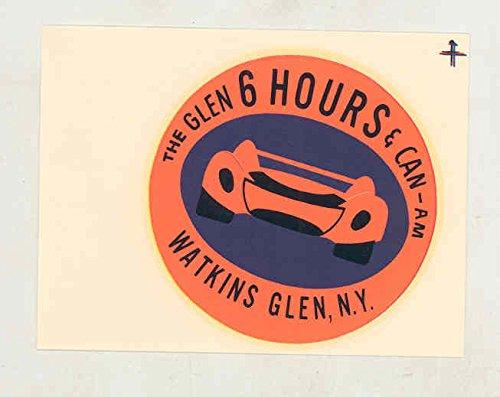 1960 1970's Watkins Glen 6 Hours and Can Am Race ORIGINAL Decal