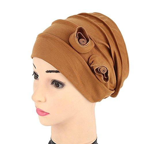 5e00432c087 Kingko® Women s Muslim Flower Shape Stretch Turban Hat Chemo India Cap Hair  Loss Head Wrap Hijib Cap