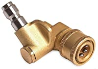 """Quick connecting pivoting coupler for pressure washers nozzles cleaning high-pressure to get hard to reach areas 4000PSI 1/4"""" plug"""