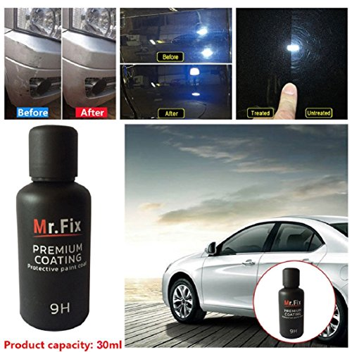 Price comparison product image Fheaven (TM) 9H Car Oxidation Liquid Ceramic Coat Super Hydrophobic Glass Coating Set Liquid Auto Paint Car Care