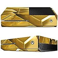 Microsoft Xbox One Aufkleber Schutz Folie Design Sticker Skin Goldbarren Gold...