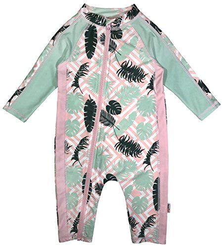 SwimZip Little Girl Long Sleeve Sunsuit with UPF 50