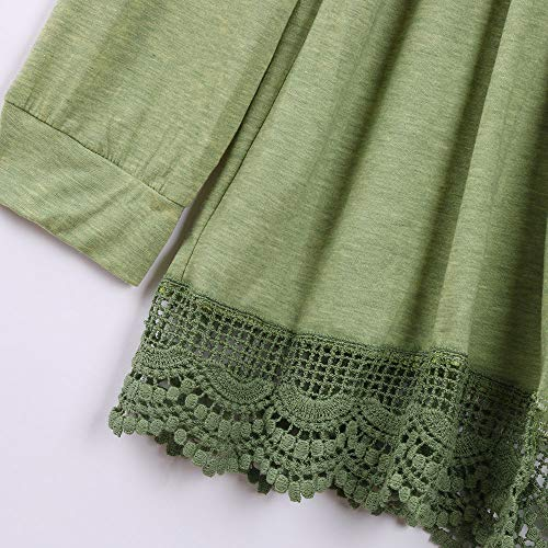 G-real Fall Winter Bouse for Women, Long Sleeve Kimono Cardigans Lace Cover up Loose Blouse Tops by G-real (Image #6)