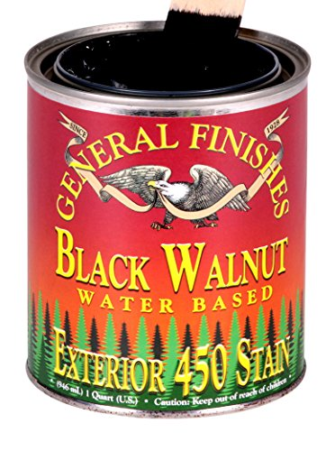 General Finishes Water Based Exterior 450 Stain Black Walnut Quart