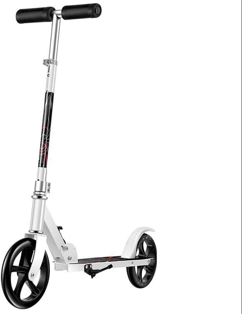 LJHBC キックスクーター 3段変速 携帯用折りたたみ 市スクーター 非電気通勤スクーター 体重制限260ポンド 男の子と女の子の誕生日プレゼントに最適 (Color : 白い) 白い