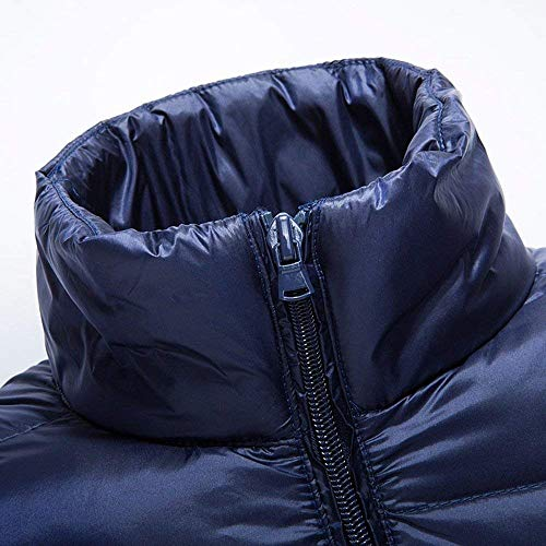 Solido Schwarz Abbigliamento Comode Caldo Invernale Di Lungo Hx Uomini Taglie Modo Ultraleggero Colore Cappotto Giù All'aperto Giacca aqZAw6
