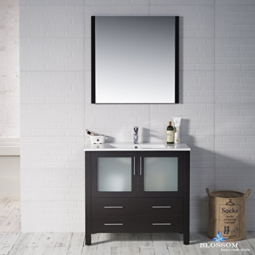BLOSSOM 001-36-02 Sydney 36'' Vanity Set with Mirror Espresso by Blossom