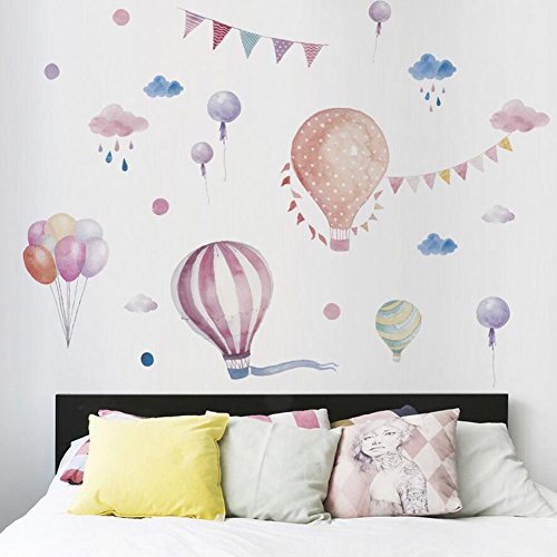 Fei New Wall Stickers Color Hot Air Balloon Wall Stickers Girl Style Wall...