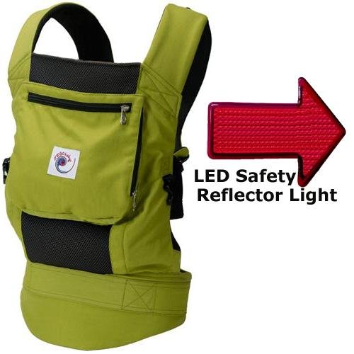 Ergo Baby BCP32300LED Performance Carrier With a LED Safety Reflector Light - Spring Green
