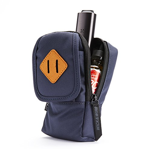 Vape Case for Travel - Secure, Organized, Premium Vape Bag - Fits Any Mechanical Box Mods, e-Juice, Battery, Tank Holder & Accessories - Wick and Wire (Primo Blue) ()