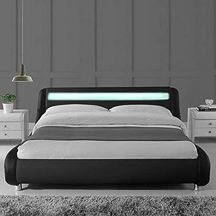 Lit Led Design Julio 160x200 Noir