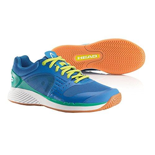 HEAD Sprint Pro Indoor Zapatillas de Pista Interior de Caballero Azul/Blanco/Amarillo
