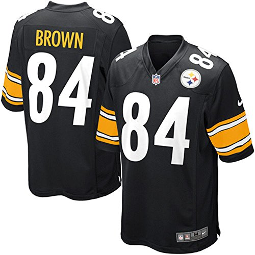 (Nike Pittsburgh Steelers Antonio Brown NFL Youth Black On-Field Home Jersey (Youth Small 8))
