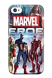 High Quality Shock Absorbing Case For Iphone 4/4s-marvel Heroes Game