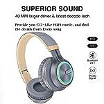 KINGCOO-Auricolare-Wireless-Cuffia-4-in-1-Cuffia-Bluetooth-Pieghevole-Bluetooth-40-Over-Ear-Stereo-Cuffie-CablateTF-Card-Lettore-Mp3-Cuffie-Radio-FM-con-Microfono-NeroRosso