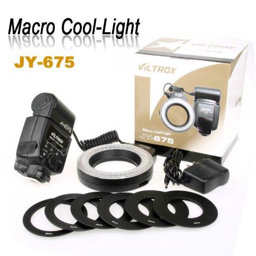 PRO JY-675 Macro Ring LED Cool-Light flash light lamp for Canon Nikon