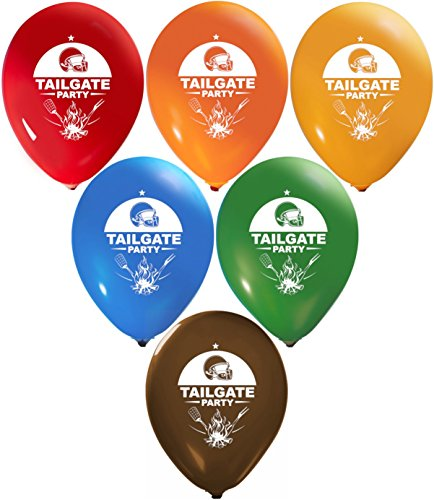 Tailgate Party Balloons | Colorful Latex Balloons (20-Count) Happy Birthday Party Or Event Use | Fill with Air Or Helium | Kid-Friendly ()
