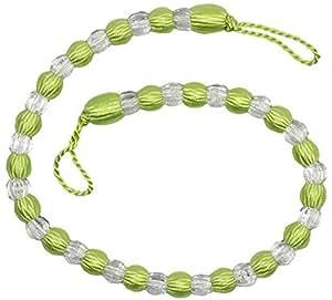 2 X Alzapaños verde lima transparente para cortina con cuentas